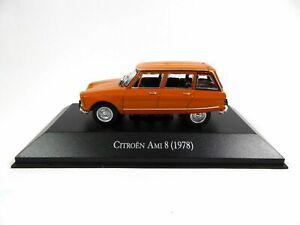1/43 Citroen Ami 8 1978 Orange Neuf Sous Emballage
