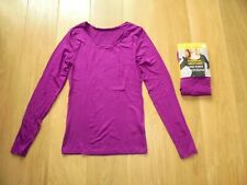 M&S MARKS & SPENCER DARK MAGENTA THERMAL HEATGEN LONG SLEEVE TOP UK SIZE 20