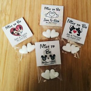 Disney Personalised Mint to Be Wedding Favours Pack of 25