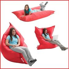 Lounger Bean Bag 5' Oversize Large Sofa Lounge Chair Seat Floor Bed 2in1, RED