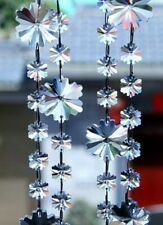 Clear Crystal Snowflake Garland, Chandelier Crystal Strands, Christmas Decor