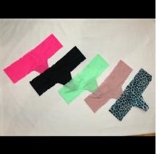 New Victoria's Secret Pink Cheekster Panties 5 Pk Medium