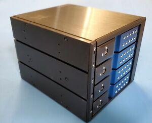 iStarUSA BPN-DE340SS-BLUE SAS-SATA 6.0 Gb-s Trayless Hot-swap cage