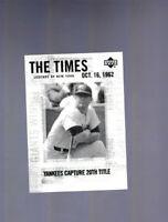 2001 Upper Deck Legends of New York Mickey Mantle #191 HOF Yankees
