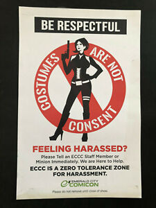 Comicon Costumes are not Consent Poster from Emerald City Comic Con 2014