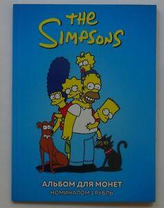 Album + 12 coins 1 ruble The Simpsons Bart Simpson, Marge Simpson, Homer Simpson