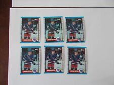 1989-90 TOPPS HOCKEY LOT OF 6 #136 BRIAN LEETCH ROOKIE CARDS