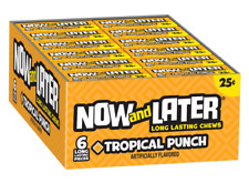 Now & Later  Chews Candy, Tropical Punch, 0.93 Ounce Bar, Pack of 24