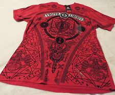 Southpole Men's Large Tee Red With Silver And Black Graphics~Truth & Liberty
