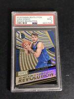 2018-19 Panini Revolution #1 LUKA DONCIC Rookie RC Dallas Basketball Card PSA 9