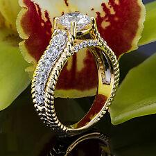 1 Diamond Solitaire Engagement Ring Round Cut D/VS2 14K White Gold