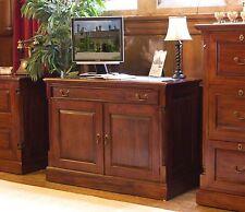 La Roque hidden home office PC computer desk solid mahogany furniture