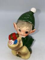 Vintage Christmas Pixie Elf Josef Originals Japan Figurine RARE Kitsch