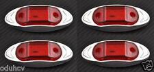 4x 6 LED ROT SEITE HINTEN CHROM BEGRENZUNGSLEUCHTEN 24V für LKW SCANIA MAN DAF