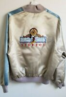 Rare Disney MGM Studios Mickey Mouse Embroidered Satin Jacket L