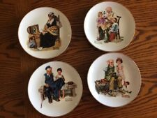 Norman Rockwell 6 1/2� gold trim collector plates 1984
