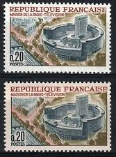 "FRANCE STAMP TIMBRE 1402 "" MAISON RADIO PARIS VARIETE COULEUR "" NEUFxx SUP  M354"