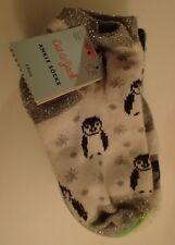 CAT & JACK Girls' Ankle Socks Penguins Polar Bear Dots Stripes 6 Pk  Size S