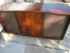 Vintage Mid Century 60's Sears Silvertone Tube Stereo Console w/ Jensen Speakers