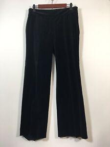 Ann Taylor Velvet Pants Women Size 6P Petite Side Zip Slacks