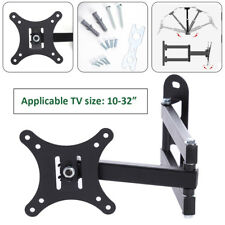 10''-32'' LCD TV Stand Swivel Bracket Rack Frame Flat Retractable Wall Mount