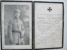 Very Rare Wwi German Death Card, Officer, Pistol, Sword, Spike Helmet, Verdun?