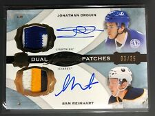 2014-15 UD The Cup Dual Signature Patches Jonathan Drouin Sam Reinhart  Auto /35