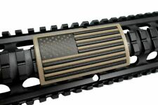 Tan U.s. Flag Stars Left FDE Retainer - Grip PVC Custom Picatinny Rail Cover