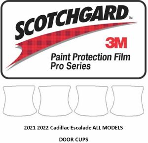3M SCOTCHGARD PRO Paint Protection Film 2021 Cadillac Escalade Door Cups
