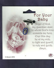 Baby Pin for Boy, Miraculous Medal, Silver Plated Made in Italy BABY Baptism