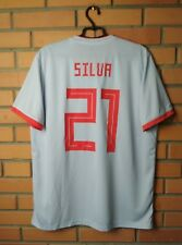 9273835be Spain  21 Silva 2017 2018 football shirt Away size XL soccer jersey Adidas
