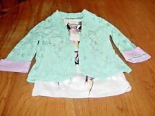 Girls Size Medium (10-12) KnitWorks  2-Piece Embellished Top  NWT