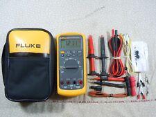 FLUKE 87V TRMS MULTIMETER KIT WITH LEADS  + TEMP PROBE + FLUKE CASE - 57849.