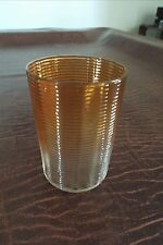 French Baccarat Rose Tienti Threaded  tumbler Amber circa 1900 Antique