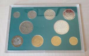 Coffret 10 pièces Francs Série Brillant Universel (BU) 1988