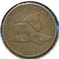 1857 1C Flying Eagle Cent (60381)