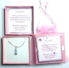 Teardrop Crystal Necklace Handmade with Swarovski Elements Bridesmaid Gift