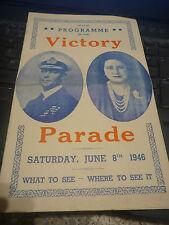 victory celebrations Programme London 1946    ww2  royalty