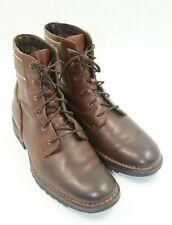 RJ Colt Mens Brown Leather Lace Up Ankle Boots Shoes Size 11M