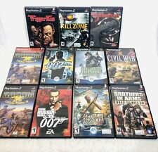 Lot of 11 PS2 7 Complete War Army First Person Shooters Guns Playstation 2
