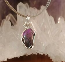 Sugilite Sterling Silver Handmade Wire Wrap Chakra Reiki Healing Pendant Jewelry