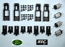 4x SLOT CLASSIC ADJUSTABLE CHASSIS + 4 SCALEAUTO MOTOR 1/32 PCS RESIN BODY OCAR