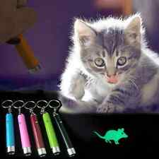 Mini Pet Cat Dog Toys LED Laser Pointer light Pen With Bright Animation Mouse HY