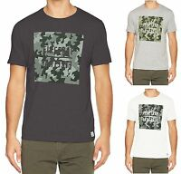 Firetrap Casual New Mens Summer Logo Print Cotton T-Shirt Yakona Camo Top