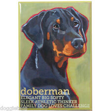 Dobermann - Dog Portrait - Fridge Magnet - Reproduction Oil Painting