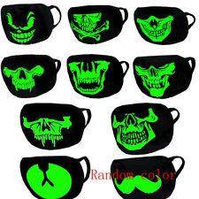Unisex Cotton Luminous Skull Face Mouth Muffle Mask Glow in THE Dark Anti-Dust