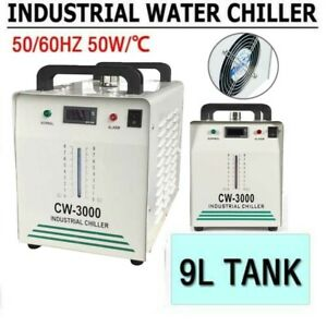 CW-3000 Industrial Water Chiller 9L 50W/℃ For 60/80W CO2 Glass Laser Tube