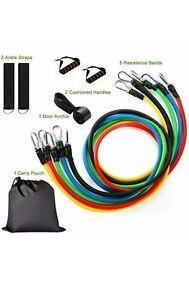 11 Pieces Resistance Bands Workout Tubes Set - Multicoloured