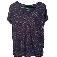 Ingrid And Isabel Maternity Xl Navy T-shirt With Hearts Short Sleeves