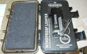 Colibri Guinness Refillable Butane Lighter With Bottle Opener  In Plastic Case